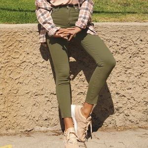 Free People We The Free Olive Green High-Rise Jean